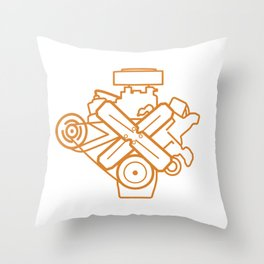 273 Commando - Engine Outline Throw Pillow