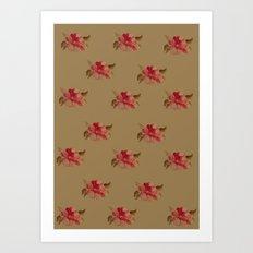 Rose Pattern Art Print