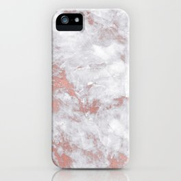 Marble Rose Gold - Lost iPhone Case