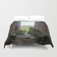 selena Duvet Covers featuring Montona by Schatzee