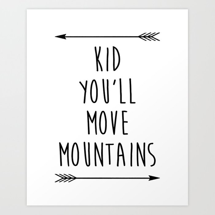 Inspirational Quote Black And White Nursery Art Print Children S Bedroom Printable By Typodesign