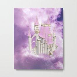 Pink Fairytale Castle Metal Print