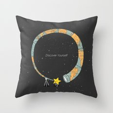 Discover yourself Throw Pillow