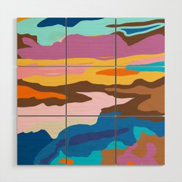 Shape and Layers no.19 - Abstract Modern Landscape Wood Wall Art