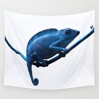 chameleon Wall Tapestries featuring Chameleon by DistinctyDesign