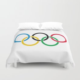 Flag of olympics games-olympic,olympic game,sport,coubertin, circles,medal,fun,international Duvet Cover
