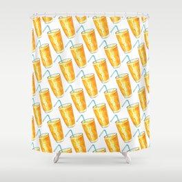 Orange Juice Pattern Shower Curtain