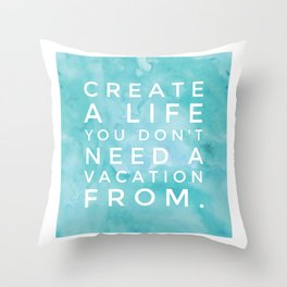 Vacay Life Print Throw Pillow