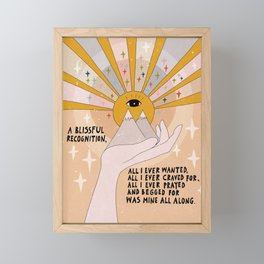 A blissful recognition Framed Mini Art Print