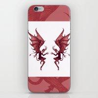 diablo iPhone & iPod Skins featuring Double Diablo by Little Bunny Sunshine