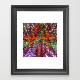 colourful peace Framed Art Print