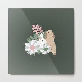 Bunny Friends Metal Print