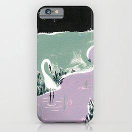 Egret at Night iPhone Case