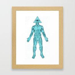 Seeing Eye, blue Framed Art Print