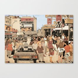 Tel Aviv Central Bus Station in The 1980s Canvas Print