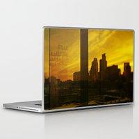 minneapolis Laptop & iPad Skins featuring golden minneapolis by sara montour