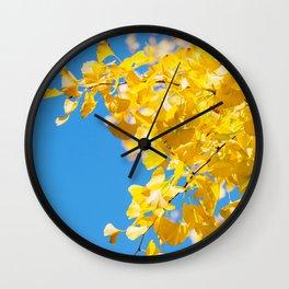 Sky and Leaf Wall Clock
