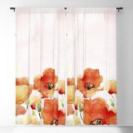 Beautiful Poppies #society6 Blackout Curtain