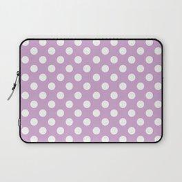 Violet Dots Pattern Laptop Sleeve