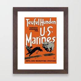 Devil Dog Recruiting Station - WWI Marine Corps Framed Art Print