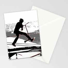 Airborne Scooter Boy - Stunt Scooter Rider Stationery Cards