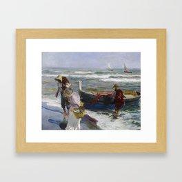 Joaquin Sorolla, Return from Fishing, 1889 Framed Art Print