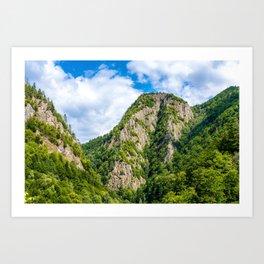 Carpathian Mountains View On Transfagarasan Road In Romania, Summer Landscape, Transylvania Mountain Art Print