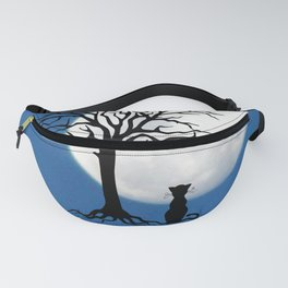 black cat and moon Fanny Pack