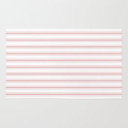 Pink Mellow Rose Mattress Ticking Wide Striped Pattern - Fall Fashion 2018 Rug