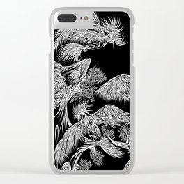Japanese Birds Inverted Clear iPhone Case