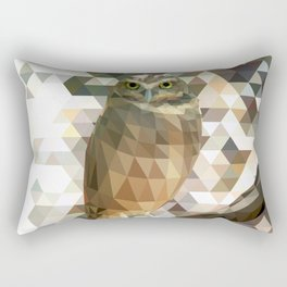 Burrowing Owl - Low Poly Technique Rectangular Pillow