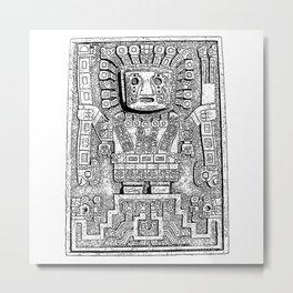 Sun gate - Teotihuacan - Tiahuanaco -Tiwanaku - Pre-Columbian cultures - Bolivia Metal Print