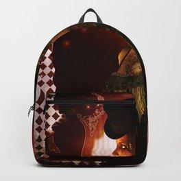 Wonderful steampunk lady Backpack