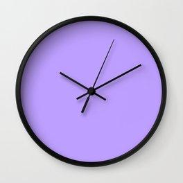 SOLID COLOR LILAC Wall Clock