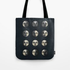 moon phases and textured darkness Tote Bag