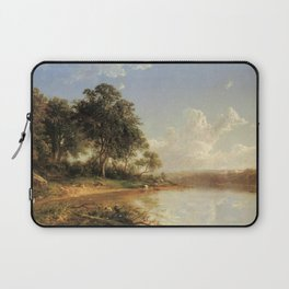 Afternoon Along The Banks Of A River 1862 By David Johnson   Reproduction   Romanticism Landscape Pa Laptop Sleeve