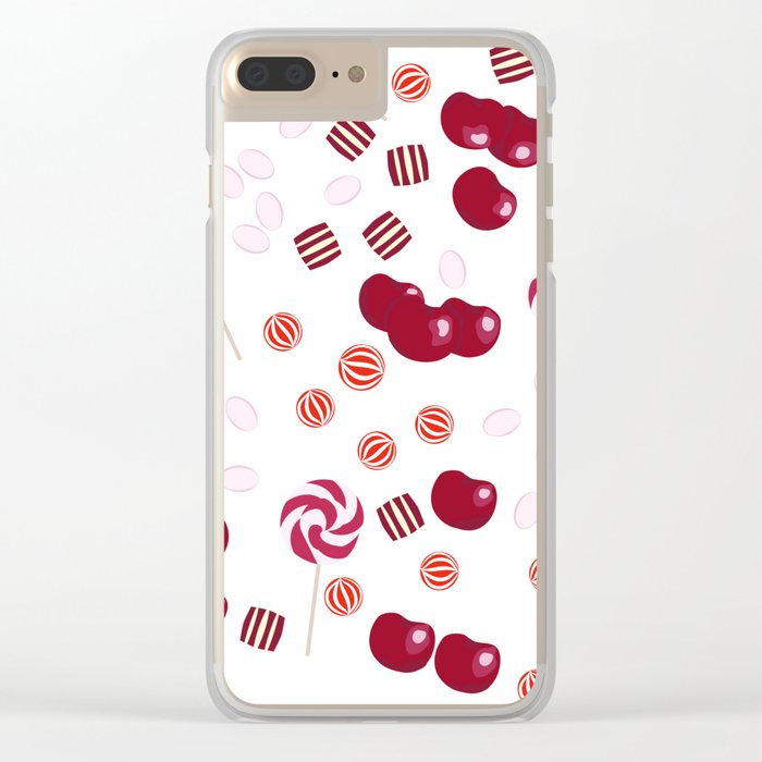 Candy lollipops of cherry Clear iPhone Case