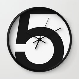 No. 5 — White Wall Clock