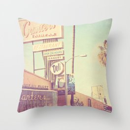 Los Angeles. Canters Deli photograph Throw Pillow