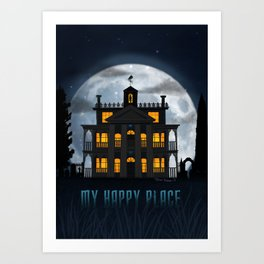 My Happy Place by Topher Adam 2017 Art Print