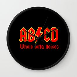 ABC, a heavy metal parody Wall Clock