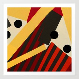 Abstract in Stripes and Dots Art Print