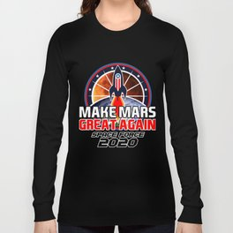 US Space Force New Military Branch Rocket to Mars Dark Long Sleeve T-shirt