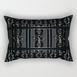 Darklit Metal Roses Rectangular Pillow