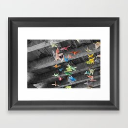 Origami flight Framed Art Print