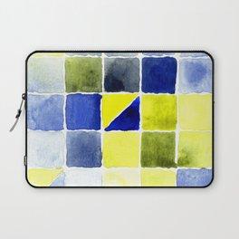 Color Chart - Lemon Yellow (DS) and Cobalt Blue (DS) Laptop Sleeve