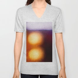 Abstract Composition In The Neon Light Unisex V-Neck