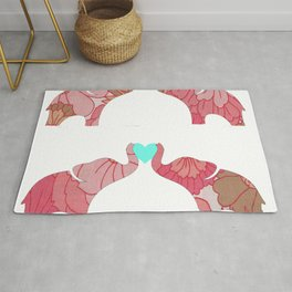 Elephants 4 Love Rug