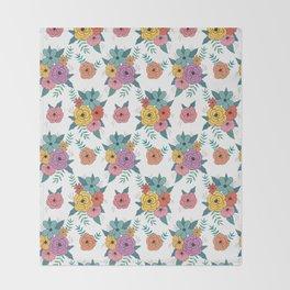 Gouache floral Throw Blanket