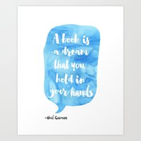 neil gaiman Art Prints featuring Neil Gaiman, quotes, Sky color by Good vibes and coffee